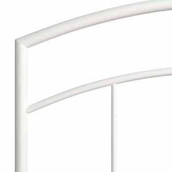 "Hillsdale Furniture Julien Twin Metal Headboard and Frame, Textured White, 40-3/4""W x 64-1/4""D x 46""H"