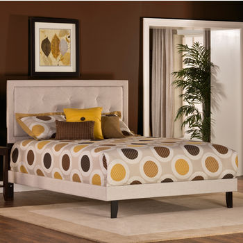 Hillsdale Furniture Becker Collection Full Bed Set with Rails in Cream (Set Includes: Headboard, Footboard and Rails)