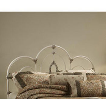 Hillsdale Furniture Victoria Collection King Bed Set with Rails in Antique White (Set Includes: Headboard, Footboard and Rails)