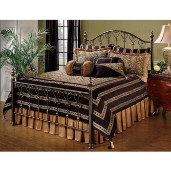 Hillsdale Furniture Huntley Collection Full Bed Set with Rails in Dusty Bronze (Set Includes: Headboard, Footboard and Rails)