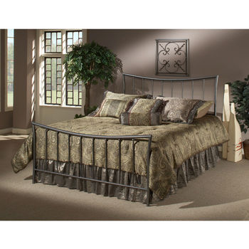Hillsdale Furniture Edgewood Collection Full Bed Set with Rails in Magnesium Pewter (Set Includes: Headboard, Footboard and Rails)