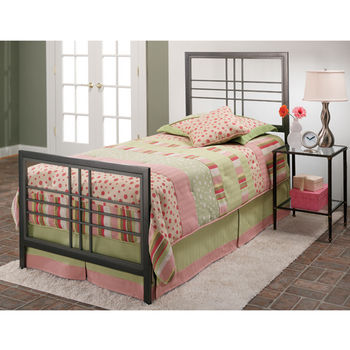 Hillsdale Furniture Tiburon Collection Twin Bed Set with Rails in Magnesium Pewter (Set Includes: Headboard, Footboard and Rails)