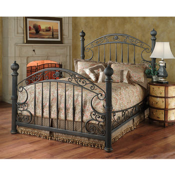 Hillsdale Furniture Chesapeake Collection King Bed Set with Rails in Rustic Old Brown (Set Includes: Headboard, Footboard and Rails)