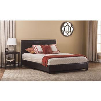 Hillsdale Hayden Bed in a Box Brown PU, 41-3/4''W x 83-1/4''D x 35''H