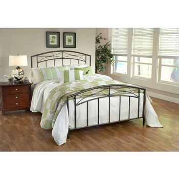 Hillsdale Furniture Morris Collection Full Bed Set with Rails in Magnesium Pewter (Set Includes: Headboard, Footboard and Rails)