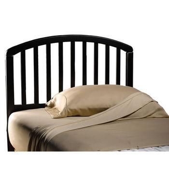 Hillsdale Furniture Carolina Black Twin Bed Set w/out Footboard, Includes Headboard & 4-Leg Frame