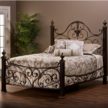 Hillsdale Furniture Mikelson Collection King or Queen Bed Set with Rails in Aged Antique Gold (Set Includes: Headboard, Footboard and Rails)