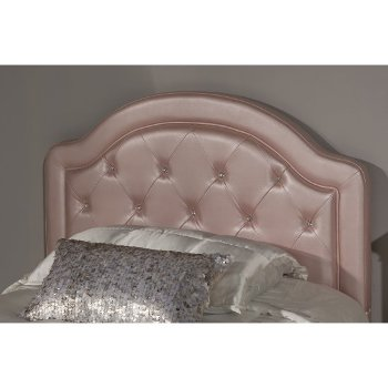 Headboard w/ Headboard Frame Pink Faux Leather Fabric