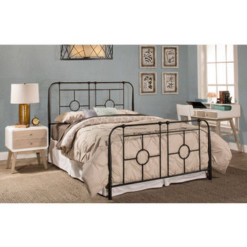 Hillsdale Trenton Bed Set with Bed Frame, Black Sparkle Finish