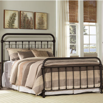 "Hillsdale Furniture Kirkland Collection in Multiple Sizes Bed Set with Bed Frame Included in Dark Bronze, 40"" W x 76-3/4"" D x 54"" H"