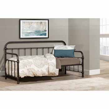 "Hillsdale Furniture Kirkland Twin Daybed, Dark Bronze, 86-1/2""W x 40-1/2""D x 42""H"