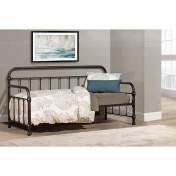 """Hillsdale Furniture Kirkland Twin Daybed, Dark Bronze, 86-1/2""""W x 40-1/2""""D x 42""""H"""