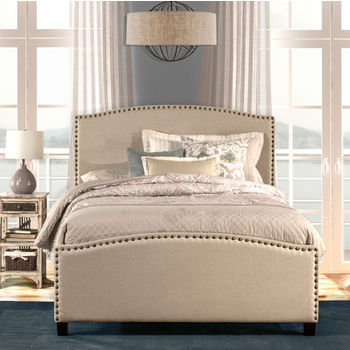 """Hillsdale Furniture Full Size Kerstein Bed Set with Rails in Light Taupe, 59"""" Wide (Set Includes: Headboard, Footboard and Side Rails)"""