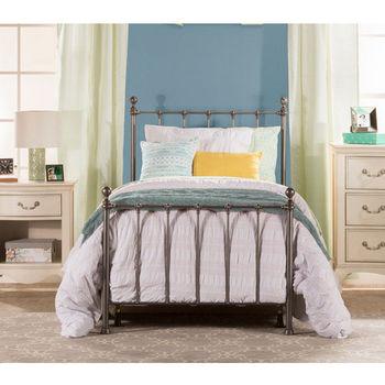 Hillsdale Furniture Molly Twin Bed Set in Black Steel (Includes Headboard, Footboard & Rails), 39-1/2''W x 72''D x 48-1/2''H