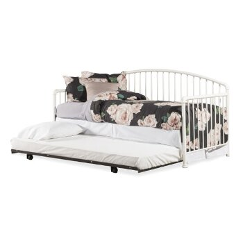 Daybed w/ Deck & Trundle Unit White View 2