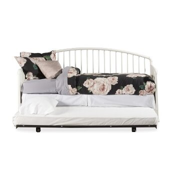 Daybed w/ Deck & Trundle Unit White View 3