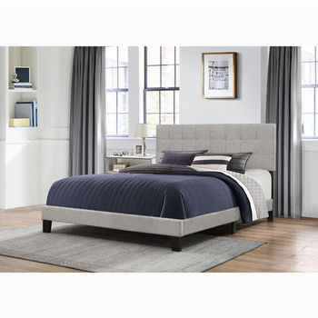 "Hillsdale Furniture Delaney Collection Bed in One in Multiple Sizes with Glacier Gray Fabric, 58"" W x 83-1/8"" D x 45-1/4"" H"