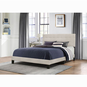 "Hillsdale Furniture Delaney Collection Bed in One in Multiple Sizes with Fog Fabric, 58"" W x 83-1/8"" D x 45-1/4"" H"