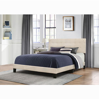 "Hillsdale Furniture Delaney Collection Bed in One in Multiple Sizes with Linen Fabric, 58"" W x 83-1/8"" D x 45-1/4"" H"