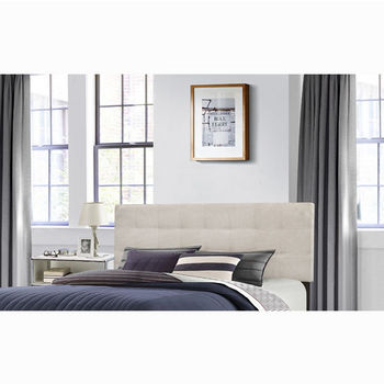 "Hillsdale Furniture Delaney Collection in Multiple Sizes Headboard with Headboard Frame Included, Fog Fabric, 62-1/4"" W x 75-1/8"" D x 45-1/4"" H"