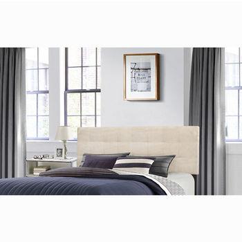 "Hillsdale Furniture Delaney Collection in Multiple Sizes Headboard with Headboard Frame Included, Linen Fabric, 62-1/4"" W x 75-1/8"" D x 45-1/4"" H"