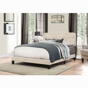 "Hillsdale Furniture Nicole Collection Bed in One in Multiple Sizes in Linen Fabric, 57-3/4"" W x 83"" D x 48"" H"