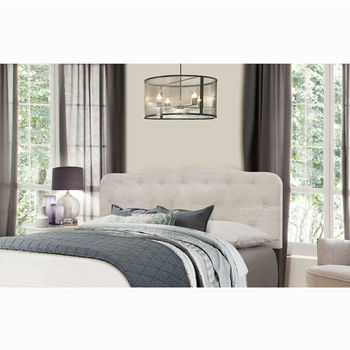 "Hillsdale Furniture Nicole Collection in Multiple Sizes Headboard with Headboard Frame Included in Fog Fabric, 64-1/4"" W x 75"" D x 48"" H"