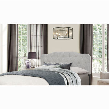 "Hillsdale Furniture Nicole Collection in Multiple Sizes Headboard with Headboard Frame Included in Glacier Gray Fabric, 64-1/4"" W x 75"" D x 48"" H"