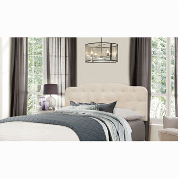 "Hillsdale Furniture Nicole Collection in Multiple Sizes Headboard with Headboard Frame Included in Linen Fabric, 64-1/4"" W x 75"" D x 48"" H"