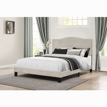 "Hillsdale Furniture Kiley Collection Bed in One Full Size with Fog Fabric, 57-3/4"" W x 82-1/2"" D x 49-1/4"" H"