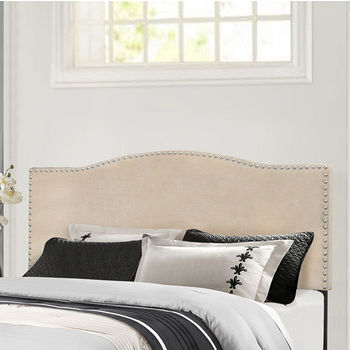 "Hillsdale Furniture Kiley Collection in Multiple Sizes Headboard with Headboard Frame Included, Linen Fabric, 64-3/8"" W x 74-1/2"" D x 49-1/4"" H"