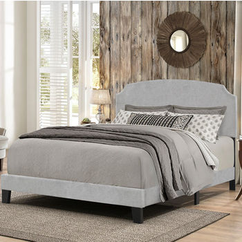 """Hillsdale Furniture Desi Collection Bed in One in Multiple Sizes with Glacier Gray Fabric, 58"""" W x 83-1/8"""" D x 45-1/4"""" H"""