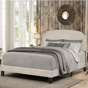 """Hillsdale Furniture Desi Collection Bed in One in Multiple Sizes with Fog Fabric, 58"""" W x 83-1/8"""" D x 45-1/4"""" H"""
