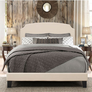 """Hillsdale Furniture Desi Collection Bed in One in Multiple Sizes with Linen Fabric, 58"""" W x 83-1/8"""" D x 45-1/4"""" H"""
