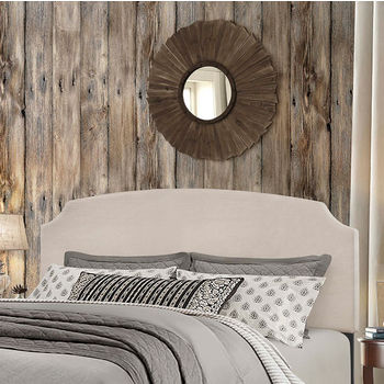 """Hillsdale Furniture Desi Collection in Multiple Sizes Headboard with Headboard Frame Included, Fog Fabric, 62-1/4"""" W x 75-1/8"""" D x 45-1/4"""" H"""