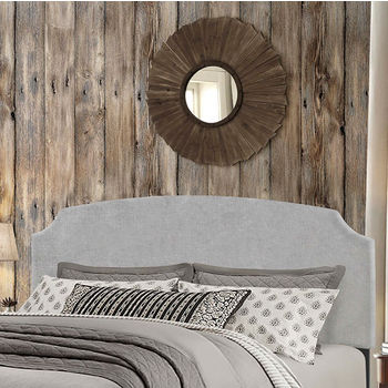 """Hillsdale Furniture Desi Collection in Multiple Sizes Headboard with Headboard Frame Included, Glacier Gray Fabric, 62-1/4"""" W x 75-1/8"""" D x 45-1/4"""" H"""