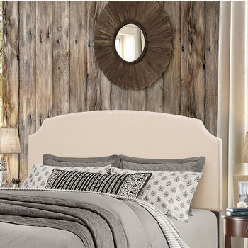 """Hillsdale Furniture Desi Collection in Multiple Sizes Headboard with Headboard Frame Included, Linen Fabric, 62-1/4"""" W x 75-1/8"""" D x 45-1/4"""" H"""