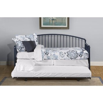 Daybed w/ Deck & Metal Trundle Unit Navy