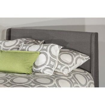 Bed w/ Rails Linen Charcoal Fabric View 4