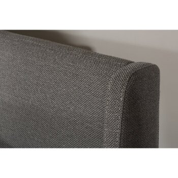 Bed w/ Rails Linen Charcoal Fabric View 5