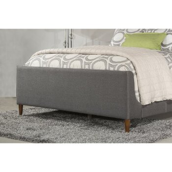 Bed w/ Rails Linen Charcoal Fabric View 7