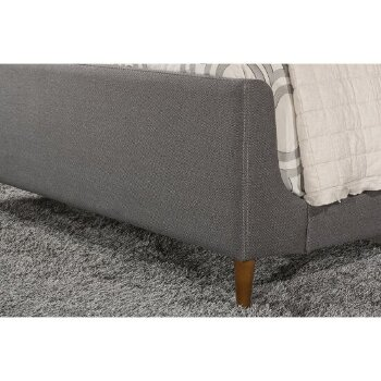 Bed w/ Rails Linen Charcoal FabricView 8