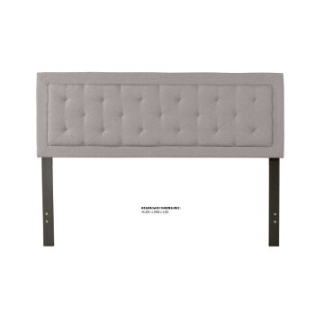 Headboard w/ Headboard Frame Glacier Gray Fabric View