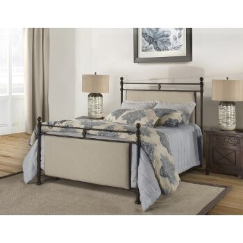 Queen Size Metal Bed w/ Rails