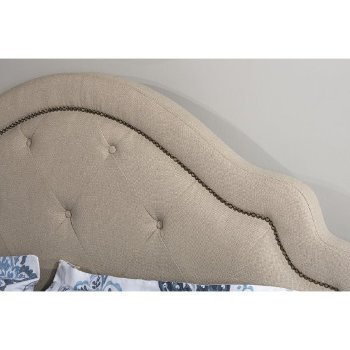 Bed w/ Rails Oyster Fabric View 4