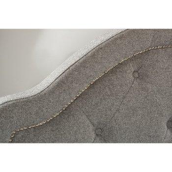 Headboard w/ Headboard Frame Light Gray Fabric View