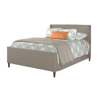 Bed w/ Rails Dove Gray Fabric View 2