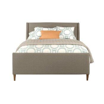 Bed w/ Rails Dove Gray Fabric View 3