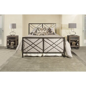 Queen Size Bed w/ Metal Bed Rail