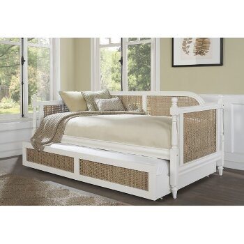 Daybed w/ Trundle Unit White Opened View